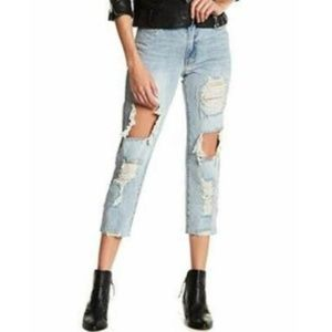UnionBay Jules Rhinestone Distressed Denim Jean